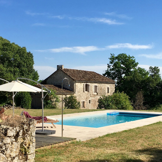 La Baronne, Miramont de Quercy - the pool...