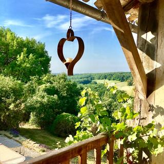 La Baronne, Miramont de Quercy - the balcony is the best spot for breakfast...