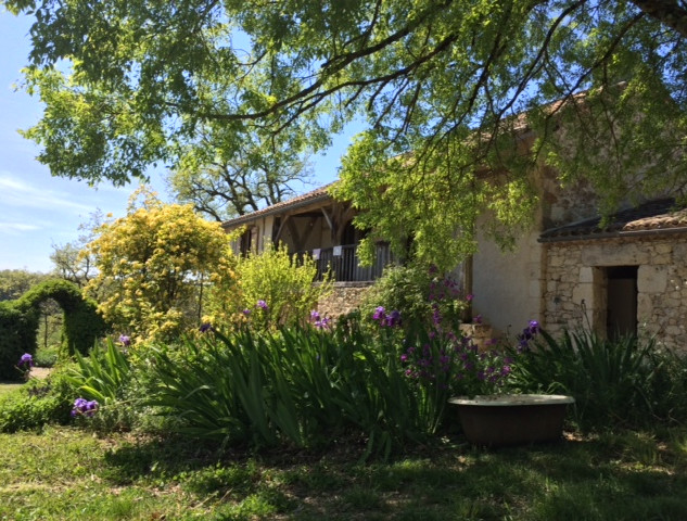 La Baronne, Miramont de Quercy - the house from the garden...