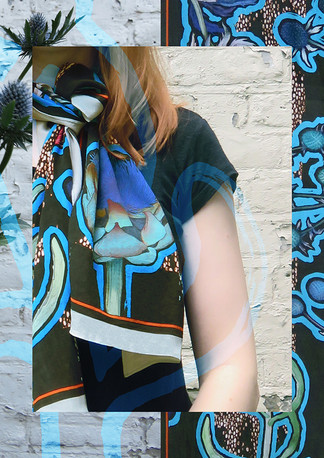 Thistle Scarf Turquoise