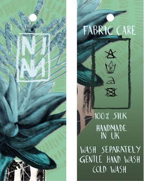 Tag Design Silk Scarf
