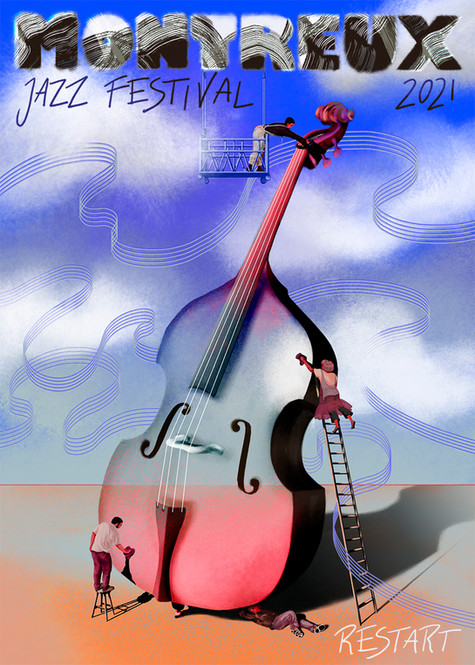 Montreux Jazz Festival - Restart Poster