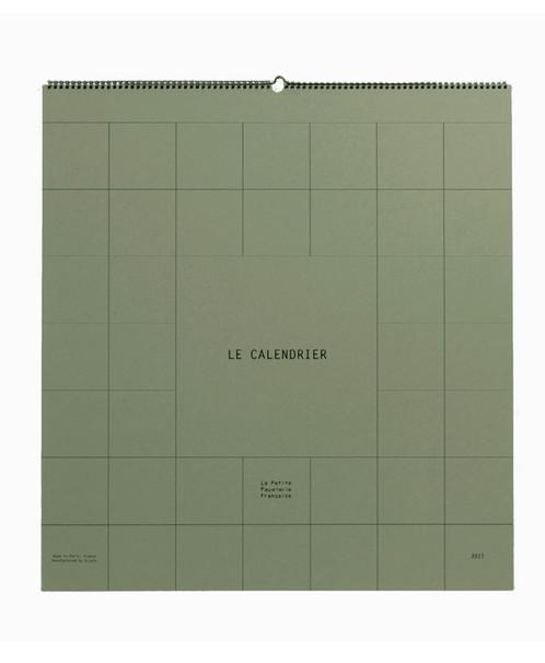 Calendrier Geant.Calendrier Geant Vert Wild Giant Calendar Wild Green