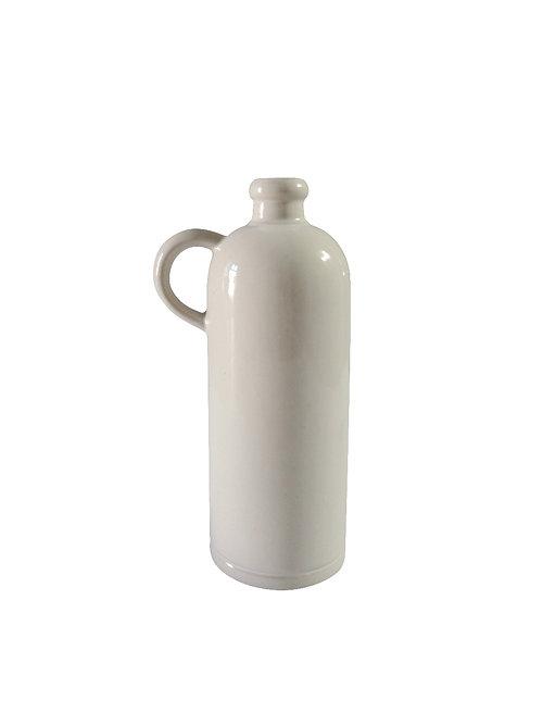 Millmakers x la manufacture de digoin petit cruchon à anse blanc small white bottle with