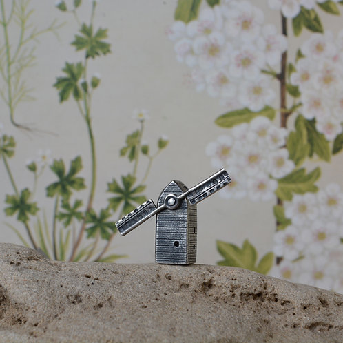 Oxidised Silver Miniature Windmill