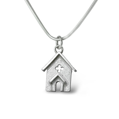 Sterling Silver Church Pendant