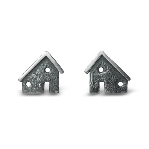 Architectural Silver Ear Studs