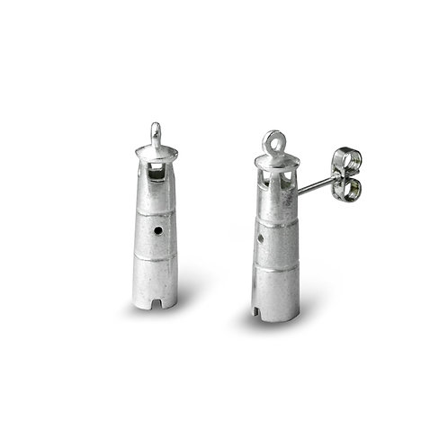Silver Lighthouse Studs