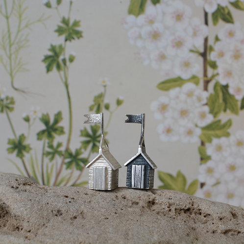 Miniature Silver Beach Huts