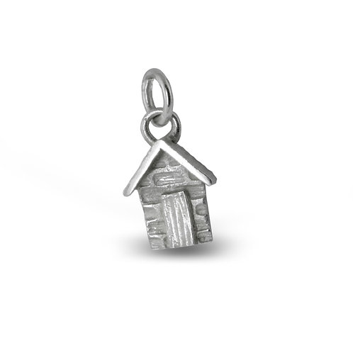 Sterling Silver Hut Charm
