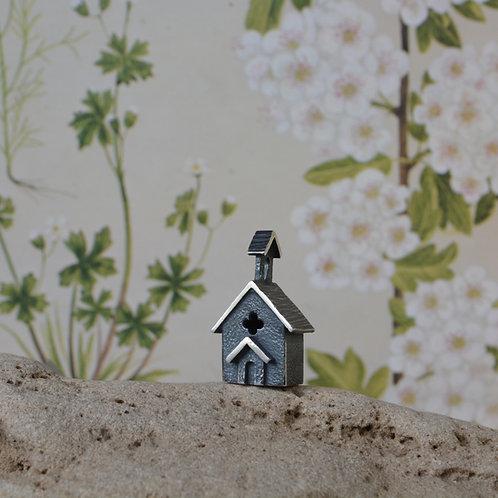 Miniature Silver Church Model
