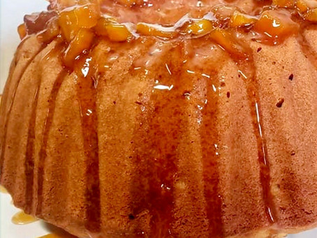 Peach Honey Pound Cake
