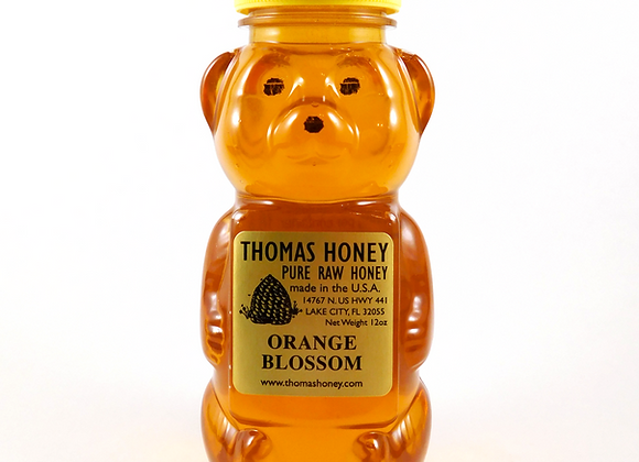 12 oz. Orange Blossom Honey Bear