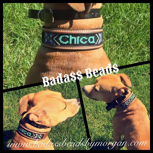 Custom Beaded Dog Collar