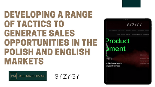 Develop a range of tactics to generate sales opportunities in the Polish and English markets.