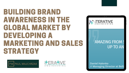 Build brand awareness in the global market by developing a marketing and sales strategy.