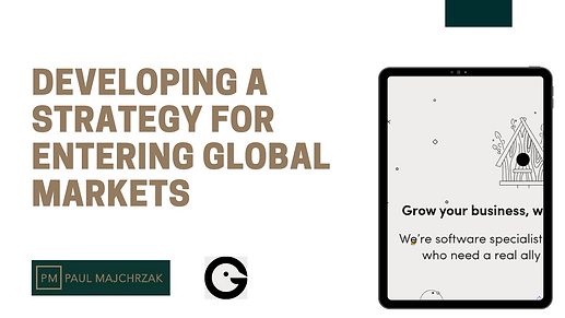 Developing a strategy for entering global markets