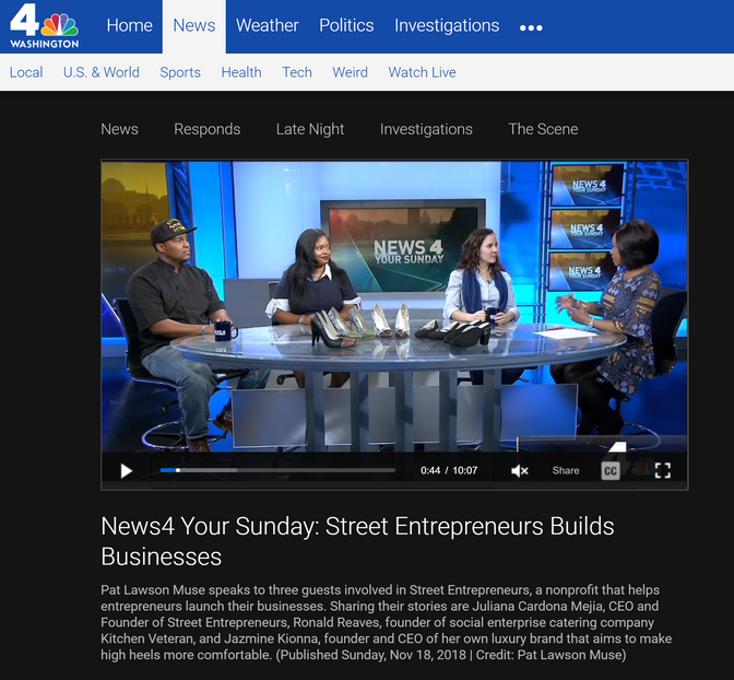 News4 Your Sunday: Street Entrepreneurs Builds Businesses