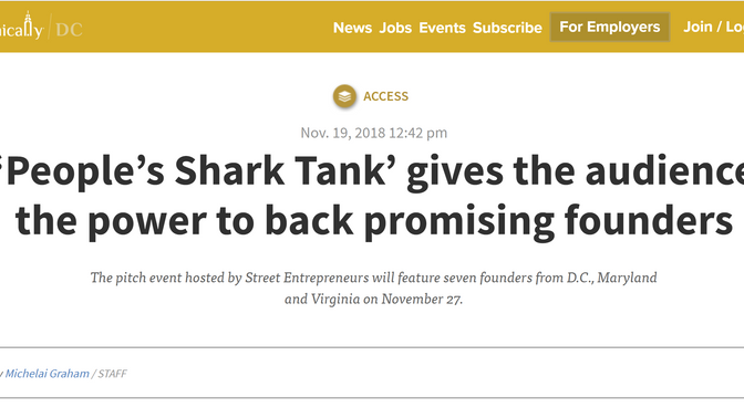 'People's Shark Tank' gives the audience the power to back promising founders