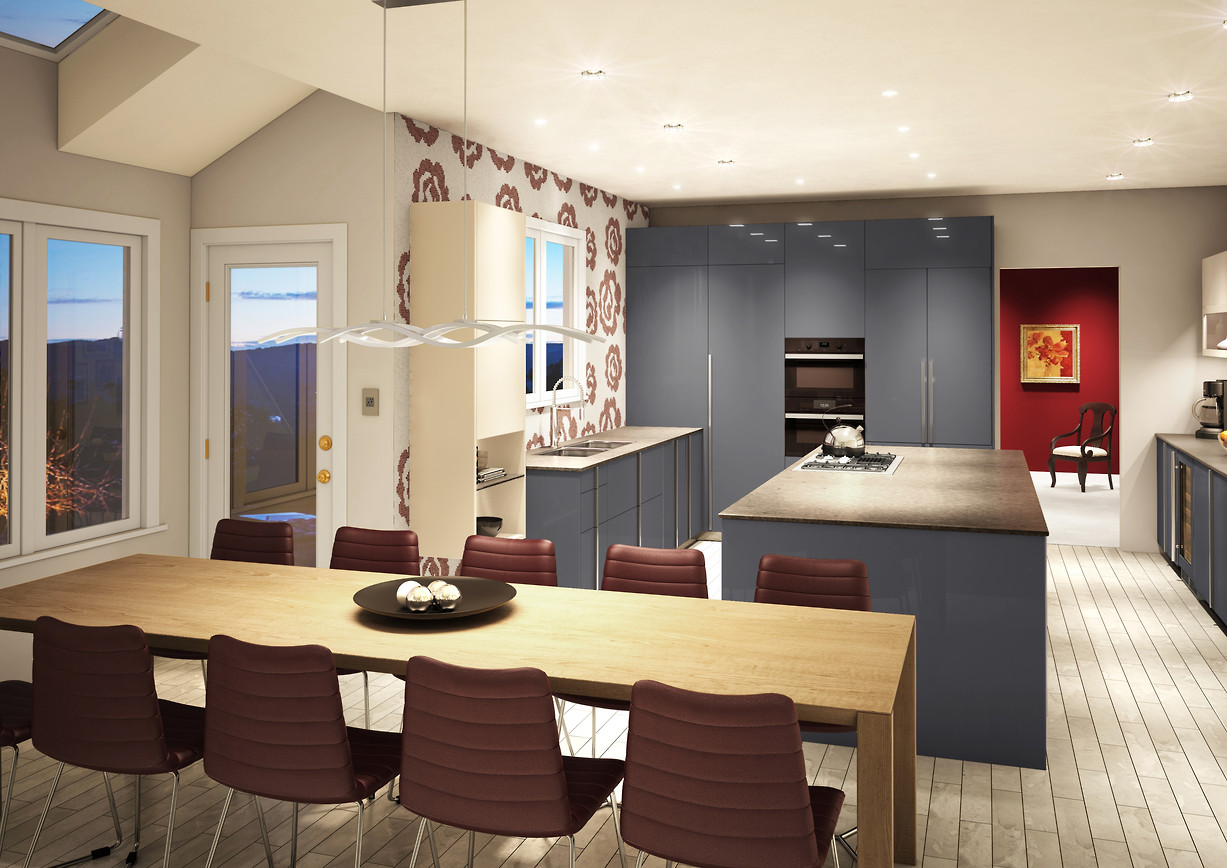 3D Proposal for Modern Kitchen, Cedar Hill Ln Media, PA 19063