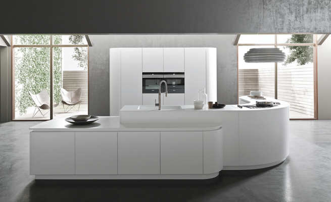 Italian Pedini Kitchen Cabinets K016  Collection, Exclusively Distrubuted by LA Signature Home Interiors for the Philadelphia Region