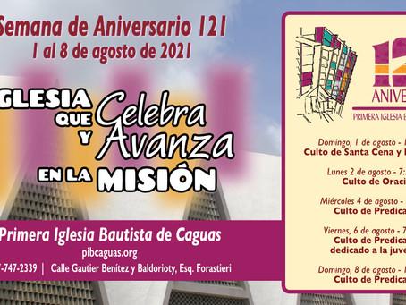 Programación del Aniversario 121 - 1 al 8 de agosto de 2021