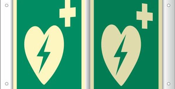 Hinweisschild Defibrillator (ISO 7010)