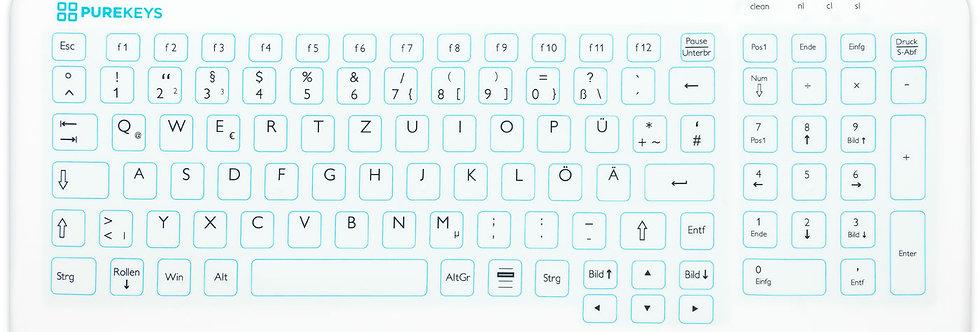 Purekeys Tastatur Kompakt u. Flach