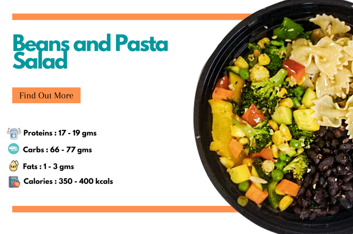 Beans and Pasta Salad Bowl