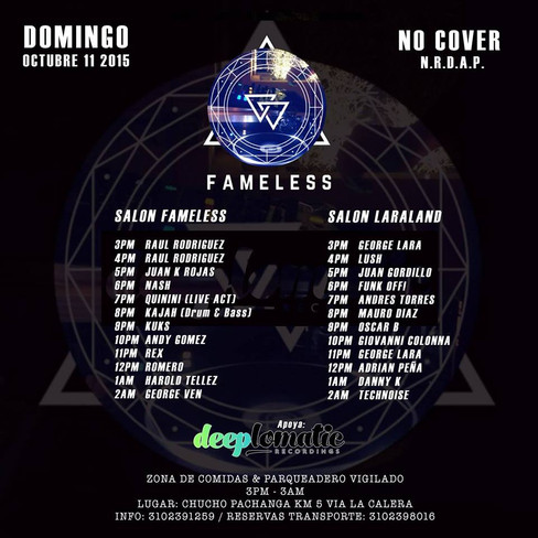 Fameless Party @ Chucho Pachanga, La Calera, COLOMBIA