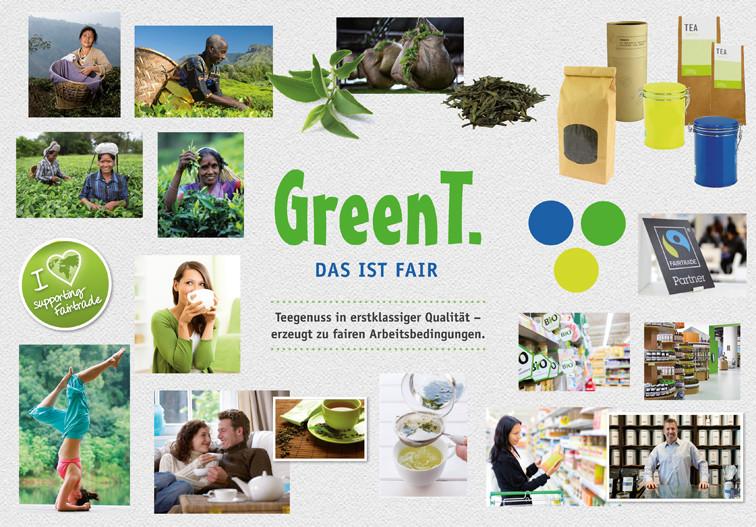 """Ein Moodboard zum Produkt """"Grüner Tee""""."""