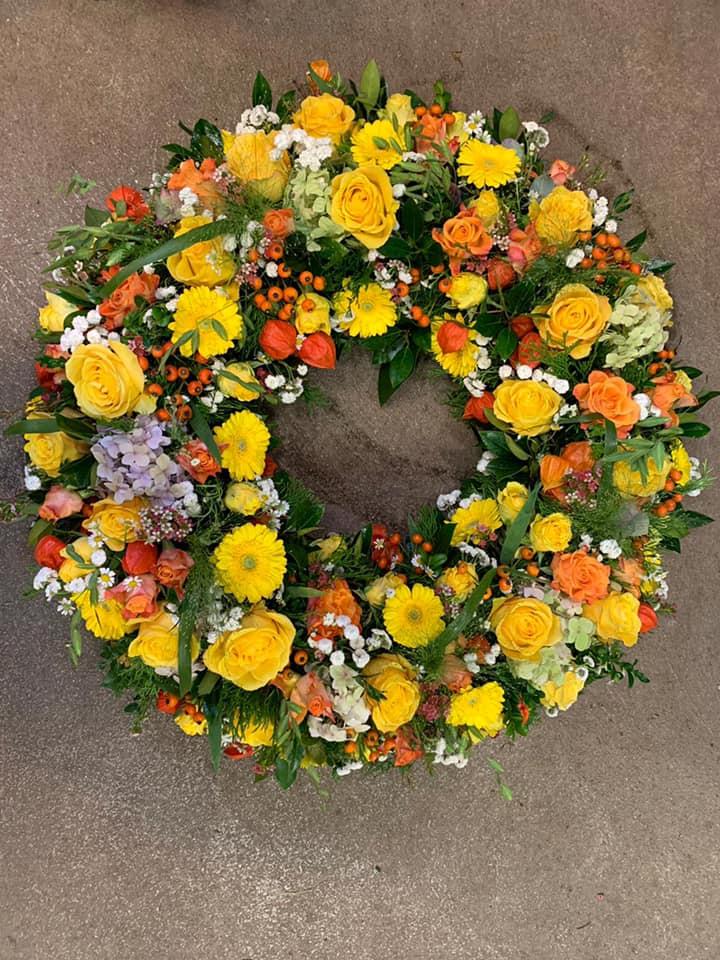 Blumen Kranz Trauer Habe die Ehre Ruhpol