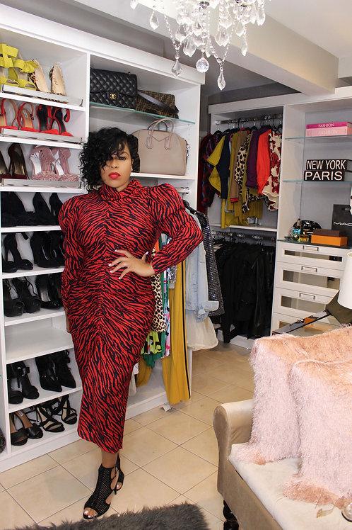 Zebra In Red | Dress | Pre-Order