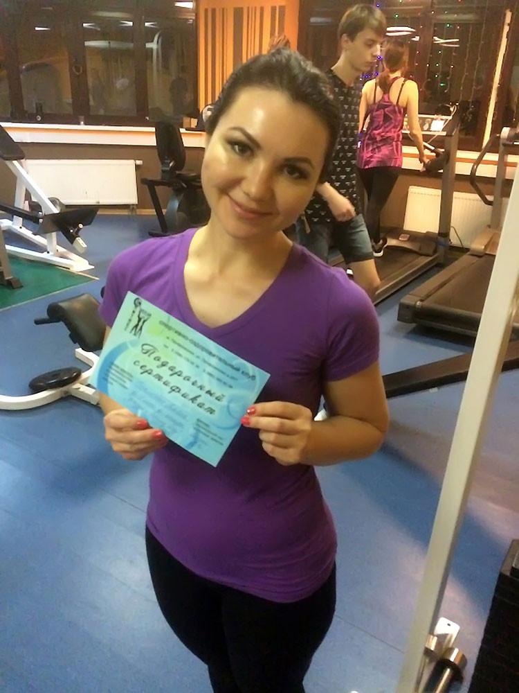 Бахметова Альбина, 1-е место в борьбе с весом