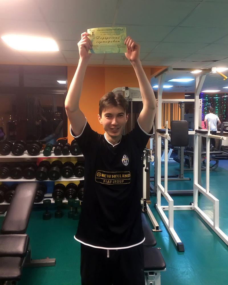 Крючков Александр, 2-е место в троеборье у подростков