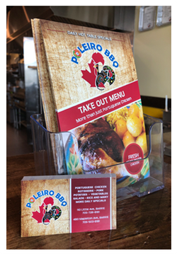 Take Out Menu & Business Cards