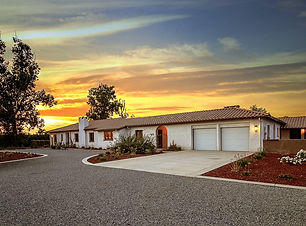 Spanish style home during twilight