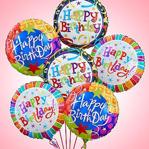"Half Dozen ""Happy Birthday"" Balloons"