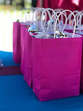 Pink party packs filled with sweets