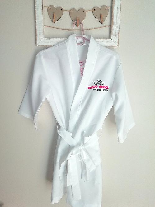 White Summer Sugar Angel Spa Gown