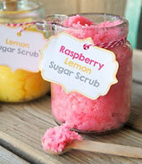 Pink & yellow sugar scrub making kit