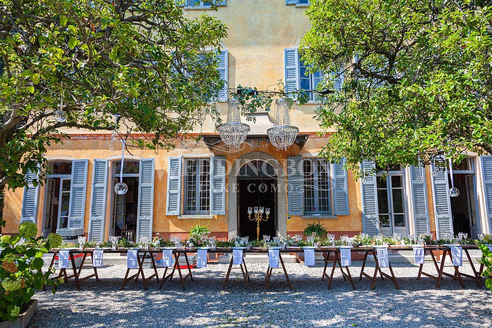 3. Wedding Dinner set up at villa teodol