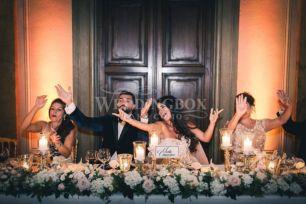 31 The top table at a Villa Erba Iranian