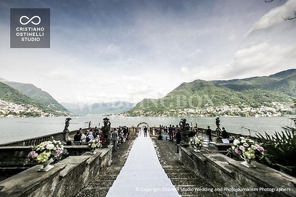 11. Villa Pizzo wedding ceremony on the