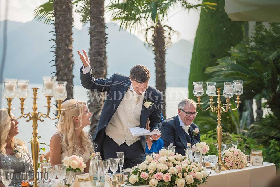 24. The groom's speech at Villa Balbiane