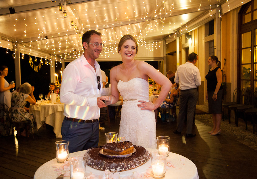 29. Ca dal Rat. Cutting the wedding cake
