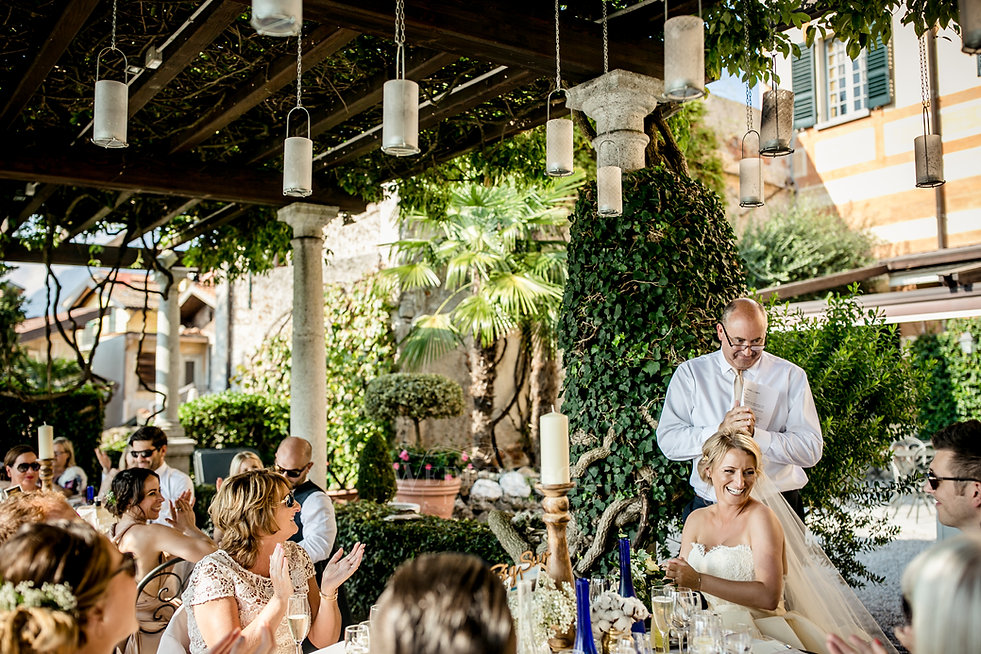30. Speeches! Lake Como wedding venue Vi