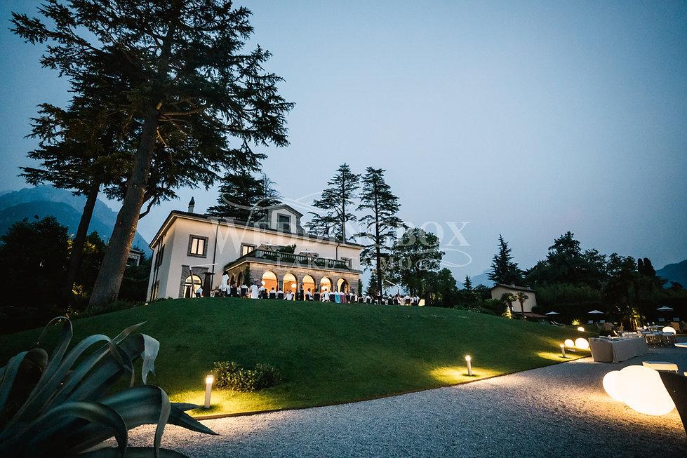 23. Party at Villa Lario. Luxury wedding