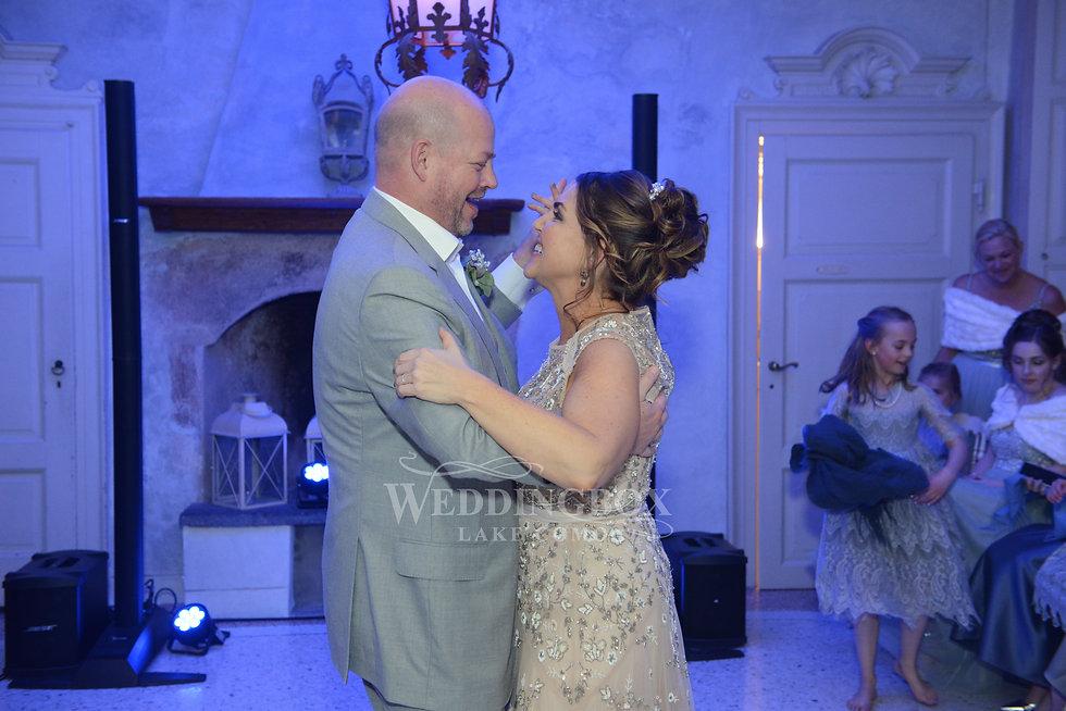 First dance, Villa Regina Teodolinda wed