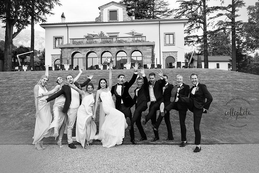 10. Lake Como wedding party at Villa Lar